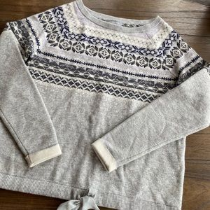 Lands end cashmere fair isle Nordic sweater